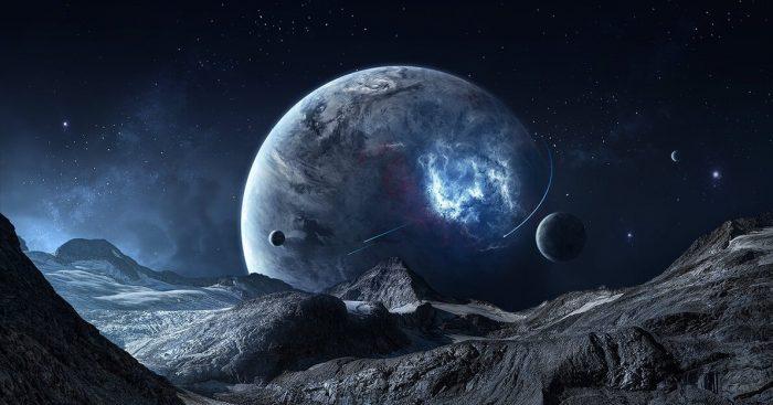вид на другую планету